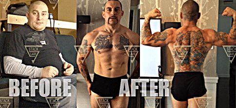 Before & After Results from Lean Mass Cutting Stack