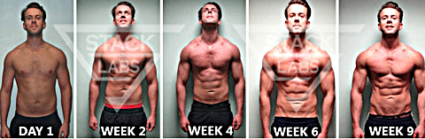 Before & After Results from Muscle Building Supplements
