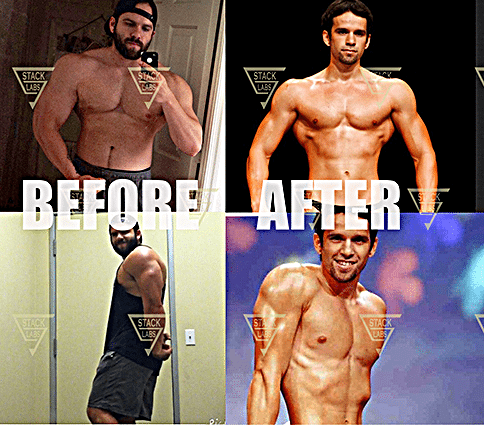Before & After Results from Mass & Strength Bulking Stack
